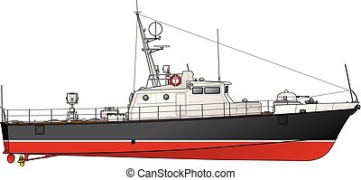 The small patrol boat.