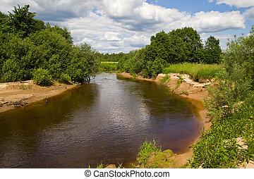 The small river