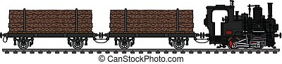 The small timber steam train