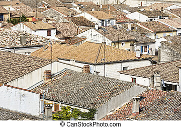 The small town of Aigues-Mortes in Southern France