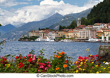 The small town of Belaggio at lake Como in Italy