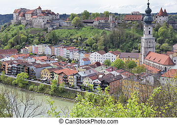 The small town of Burghausen, Germany