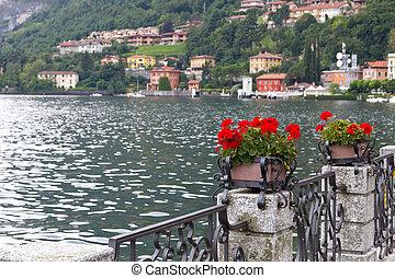 The small town of Menaggio at Lake Como in Italy