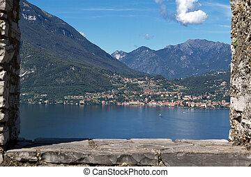 The small town of Menaggio on lake Como, Italy