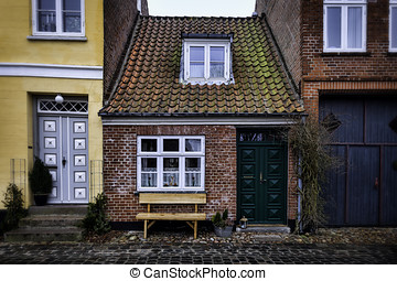 The smallest house in Ribe, Denmark
