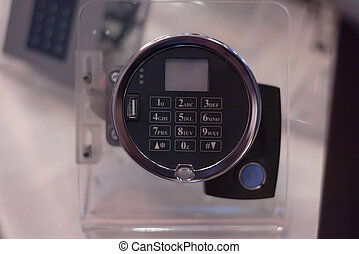 The smart home system with access control for entering a PIN code, combination on the keyboard.