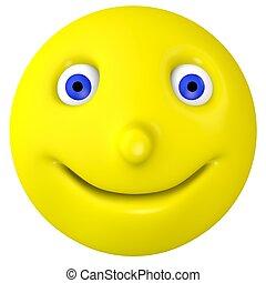 The smilie smiles
