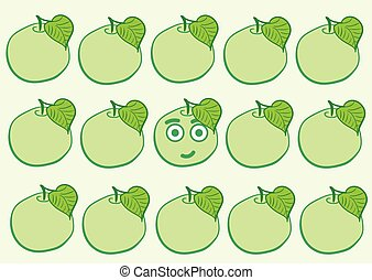 The smiling apple