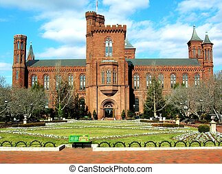 Smithsonian Castle - The Smithsonian Castle in Washington,...