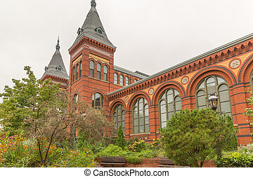The Smithsonian National Museum Building in Washington DC