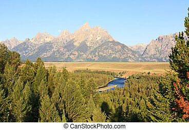 The Snake River Overlook in the Grand Teton