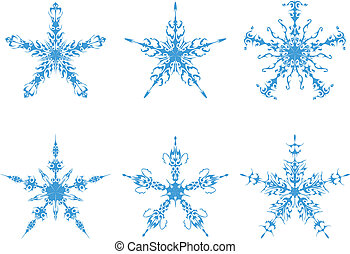 the Snowflakes vector set