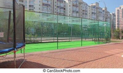 The soccer playground camera movement