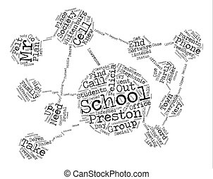 The Society Word Cloud Concept Text Background