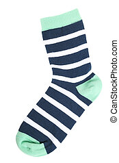 The sock - One striped sock isolated on a white background