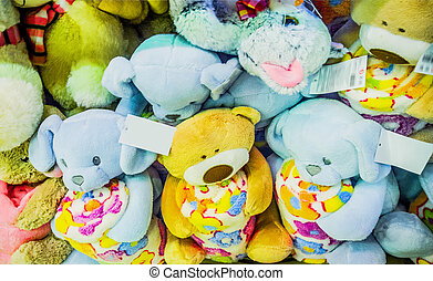 the soft plush toys