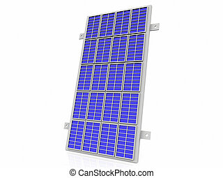 the solar cell panel on  white background