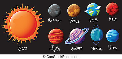 The Solar System - Illustration of the Solar System