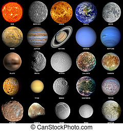 The solar system - All of the planets that make up the solar...
