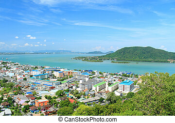 The Songkhla lake in Thailand