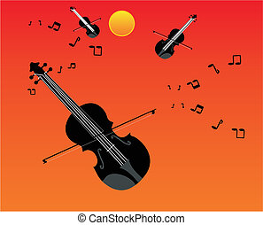 The sounds of the violins and fiddles... - Universal string...