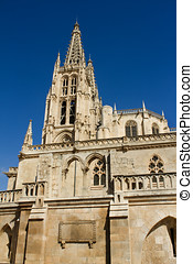 The South Face of Burgos Gothic Cathedral. Spain - The South...