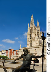 The South Face of Burgos Gothic Cathedral. Spain