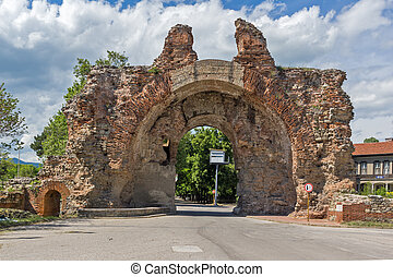 The South gate - The Camels of ancient roman fortifications in Diocletianopolis, town of Hisarya, Plovdiv Region,
