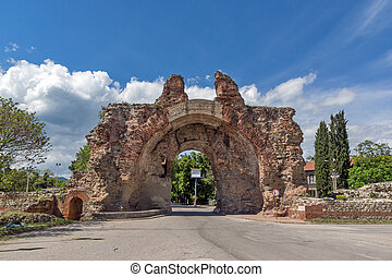 The South gate - The Camels of ancient roman fortifications in Diocletianopolis, town of Hisarya, Plovdiv Region