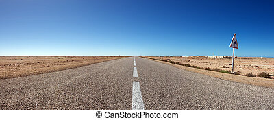 The south road in Morocco
