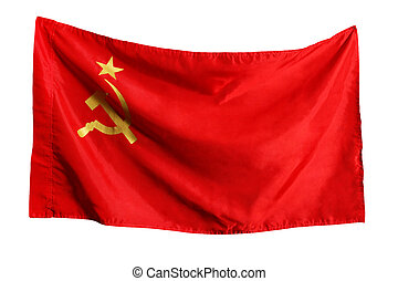 The Soviet flag isolated on a white background