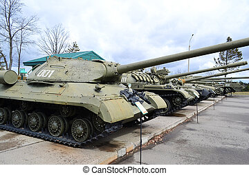 The photo of the soviet tanks .
