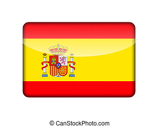 The Spanish flag in the form of a glossy icon.