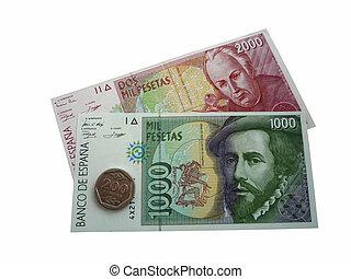 The Spanish pesetas