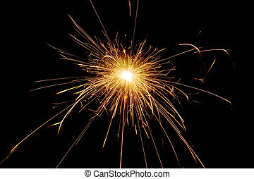 the spark on a black background