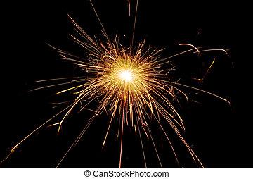 spark  - the spark on a black background