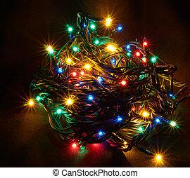 The sparkling Christmas garland