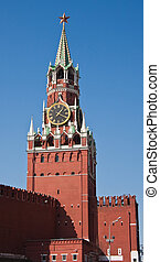The Spasskaya Tower of Moscow Kremlin