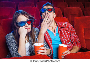 The spectators in the cinema - The spectators sitting in the...