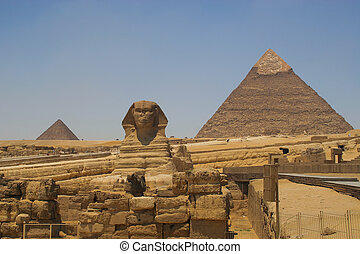 Sphinx and the pyramids - The Sphinx and the pyramids of...
