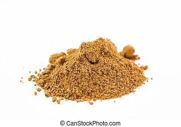 nutmeg - the spice nutmeg isolated on white