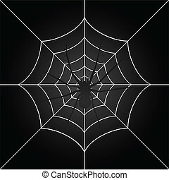 The spider weighs on a web. A vector illustration