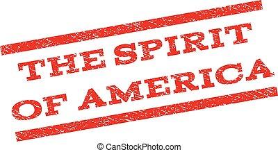 The Spirit Of America Watermark Stamp