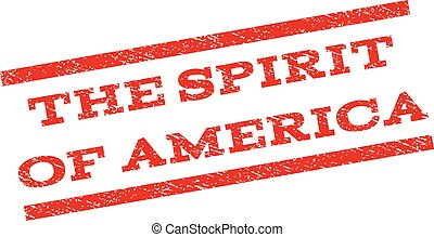 The Spirit Of America Watermark Stamp