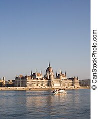 The splendid Hungarian parliament building.
