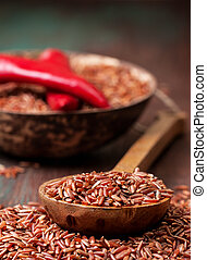 red rice, chili peppers