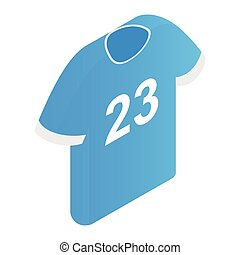 The sports t-shirt with the number 23 icon