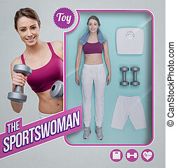 The sportswoman lifelike doll