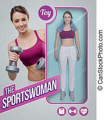 The sportswoman lifelike doll