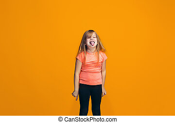 The squint eyed teen girl with weird expression - I lost my...